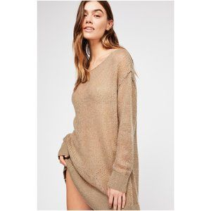 Free People Transparent Crew Sweater Tunic